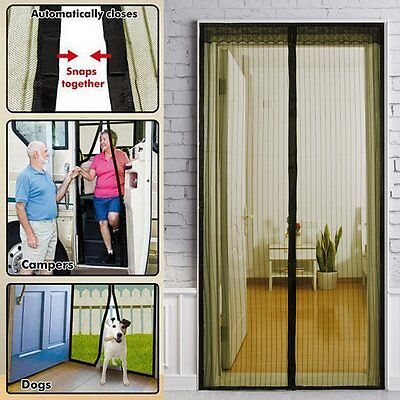 NEW Curtain Door  Magnetic Fastening Hands Free Insect Screen Net NR