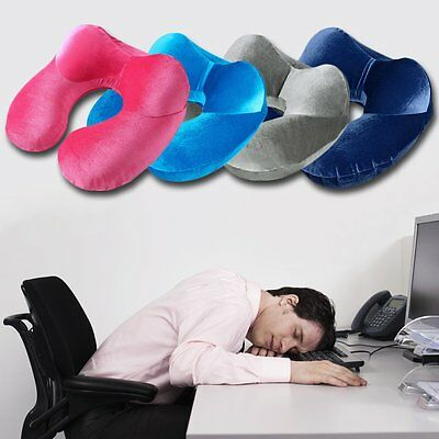 New U-Shape Travel Pillow for Airplane Inflatable Neck Pillow Travel  Pillows NR