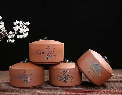 purple sand bottles jars Yixing clay tea caddies ceramic jars and lids container