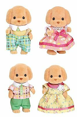 Four Sylvanian Families Stuffed Animals Sets Sold Together- Toy Poodle Family