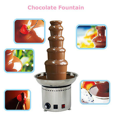 5-Tier 110V Electric Chocolate Fondue Fountain Stainless Steel Commercial Mixers