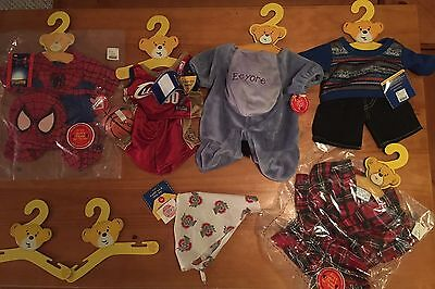 Build A Bear Clothing Lot- NEW!!! Over $115 worth!