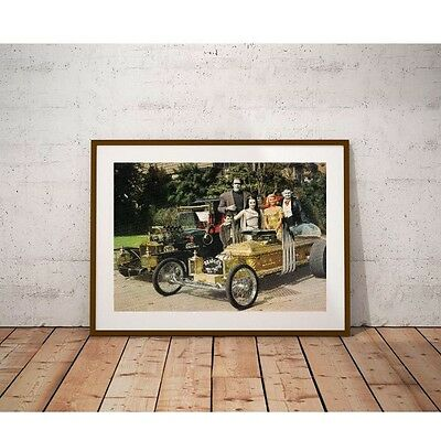 The Munsters Poster-TV Cast & Munster Coach and Dragula-George Barris Show Cars