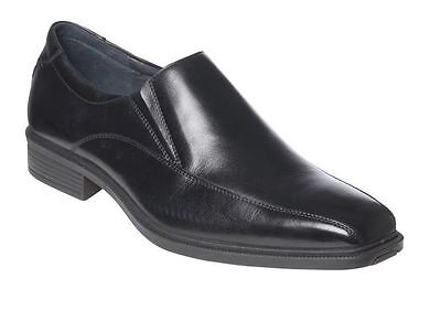 Mens HUSH PUPPIES MENTOR Black FORMAL/DRESS/WORK/LEATHER SHOES -EXTRA WIDE FIT