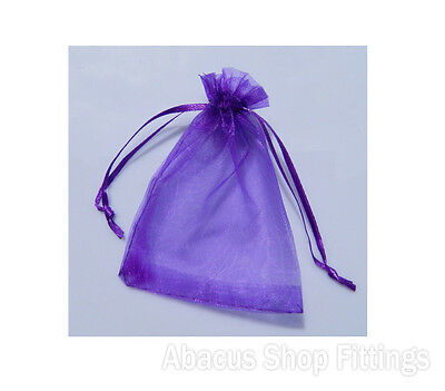 Organza Bag 10X15Cm Purple Jewellery Pouch Pkt/10