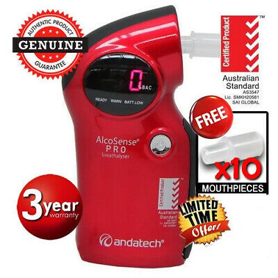 ANDATECH Alcosense RED AL6000pro Breathalyser Professional alcohol tester NEW