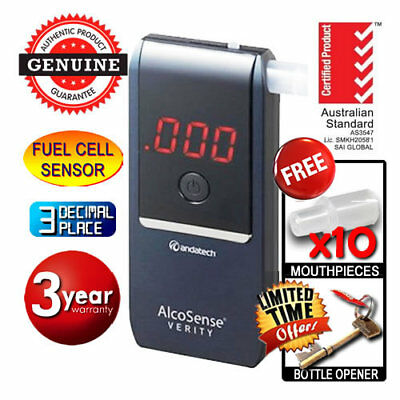 Andatech Alcosense NAVY VERITY BREATHALYSER Personal Fuel Cell Alcohol Tester