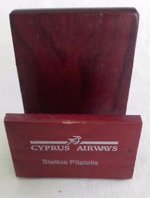 Rare Cyprus Airways Name plate / Letter rack / desk tidy