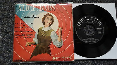 Alice Babs - Hey, Mr. Banjo/ The green door 7'' EP Single SPAIN
