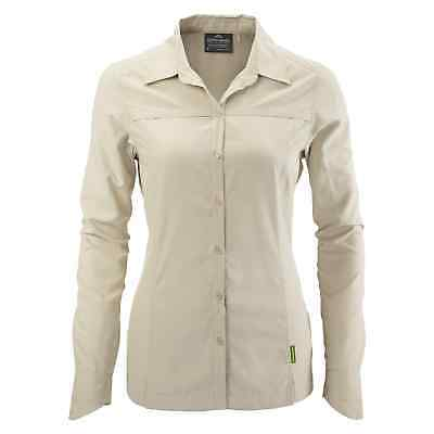 Kathmandu Tapah Womens Long Sleeve Collared Button Up Hiking Shirt Top v2 NEW