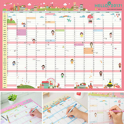 2017 Calendar Planner Daily Schedule Paper Wall Sticker Lovely Gift Stationery