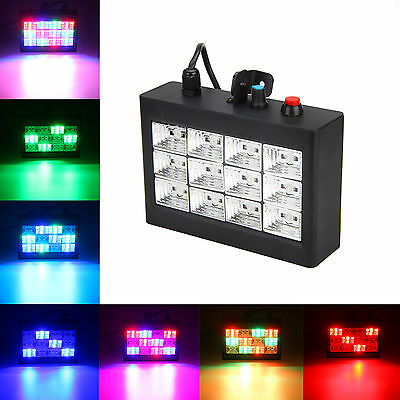 MINI Disco Party DJ Strobe 12x RGB LED  Laser Light Sound Activated Stage Effect