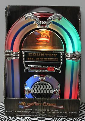 COUNTRY CLASSICS TABLETOP JUKEBOX Musical Collectible Wurlitzer Nostalgic NEW