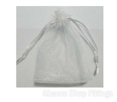 Organza Bag 10X15Cm White Jewellery Pouch Pkt/10
