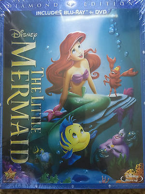 The Little Mermaid (Blu-ray/DVD, 2013, 2-Disc Set, Diamond Edition) Sealed Box
