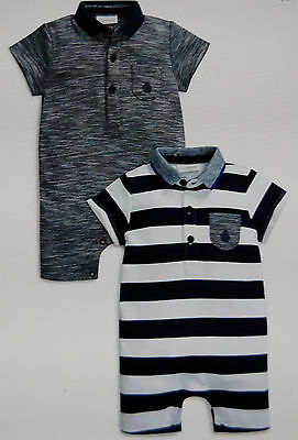 ♡ Next ♡ BNWT 2 pack ☆ Baby Boy ☆ Beautiful☆ POLO ROMPERS ☆ 3-6 Months ☆ Holiday