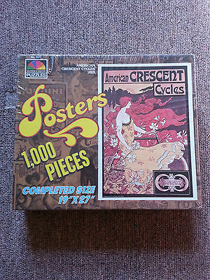 VINTAGE SELCHOW & RIGHTER PUZZLE American Crescent Cycles 1899 NEW NIB 1000 USA