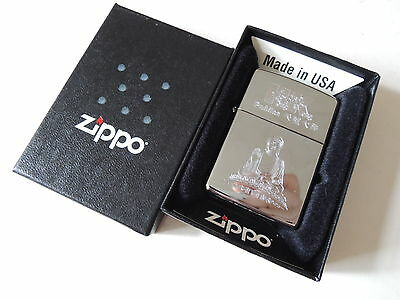 Authentic Zippo Lighter - Hong Kong Buddha 264509 - No Inside Guts Insert