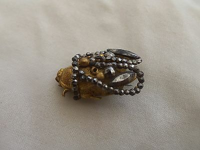 Antique 1800,s Cut Steel Bee Brooch
