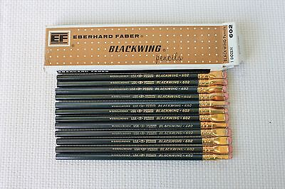 One Dozen Vintage Eberhard Faber Blackwing 602 Pencils in the Box