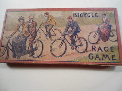 Rare Antique Victorian Bicyle  Race Game