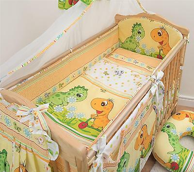 6 Piece Baby Cot Bedding Set With 4 sided Bumper to fit 120x60 cm - Pattern 19