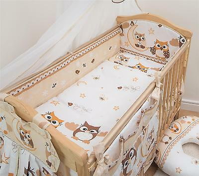 6 Piece Baby Cot Bedding Set With 4 sided Bumper to fit 120x60 cm - Pattern 7