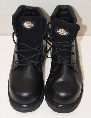 Mens Dickies Work Workwear Cleveland Leather Safety Boot BLACK