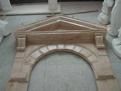 Old World - Rembrandt Door Surround - Grand Entry Mantle - Column Mantel- Wine