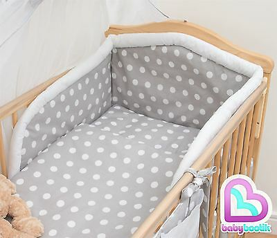 3 Piece Baby Bedding Set with Thick Bumper for 120x60 cm Cot - Pattern 14