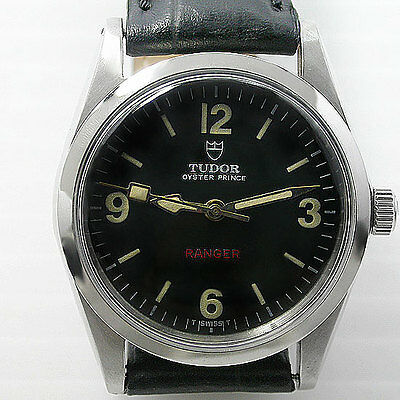 Vintage Tudor Oyster Prince Black Dial Automatic  Watch For Men