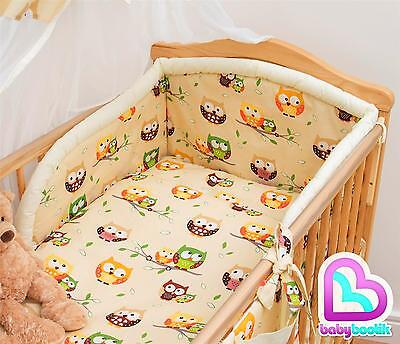 5 Piece Baby Bedding Set with Thick Bumper for 120x60 cm Cot - Pattern 22