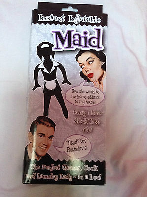 instant inflatable maid - fun novelty gift - NEW - - secret santa gift