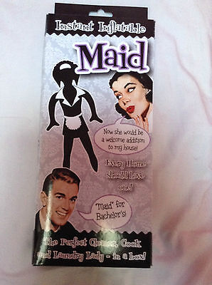 instant inflatable maid - fun novelty gift - - secret santa gift