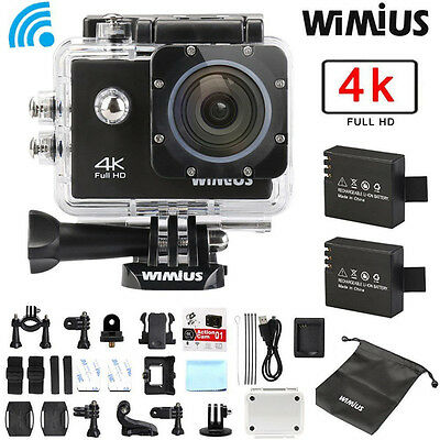 4K HD 1080P 16MP WiFi Waterproof Sport DV Video Action Camera Camcorder Wimius