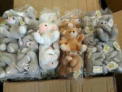 48 x Wholesale Joblot Mulberry Studios Animals Soft Plush Toys Kids Baby Nursery
