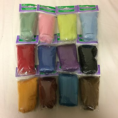 12 x Clover Natural Wool Roving for felting and handicraft - Gift Set 5