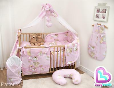 10 Piece Baby Bedding Set with Thick Bumper for 120x60 cm Cot - Pattern 5