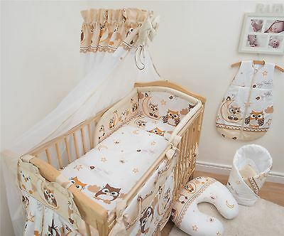 10 Piece Bedding Set with Thick Bumper for 140x70 cm Baby Cot Bed - Pattern 7