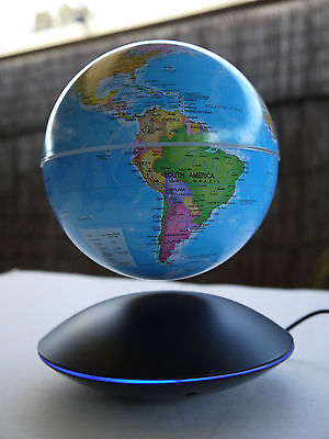 Magnetic Levitation Floating globe World Map  With Colourful Light Syd Location