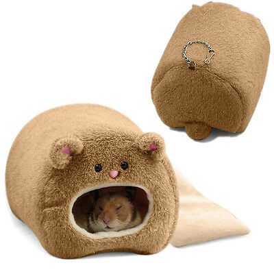 Winter Warm Hamster Rabbit Rat Cat Hanging Plush Bed Pet Hammock Cave Toy House