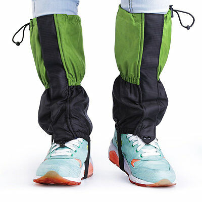 Children Waterproof Breathable Gaiters Outdoor Protective Leg Feet Cover JR