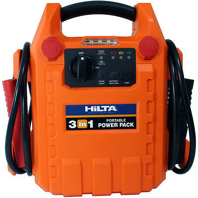 Hilta Portable Car Booster Jump Start Starter Rescue Pack 1800 AMP 12v
