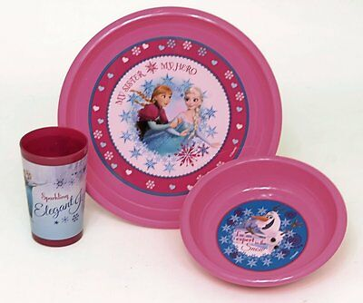 12 x Wholesale Joblot Disney Frozen Set of 3 Cutlery Set Kids Tableware Plates C