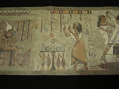 3 Egyptian wallpaper border rolls 45 ft. long TOTAL Egypt Tut Isis Ra B