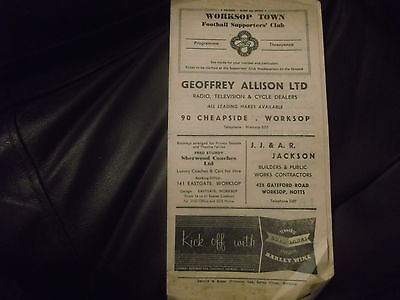 Rare Worksop Town V North Shields Midland League 16Th April 1950S