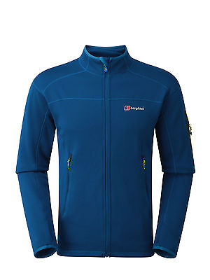 Berghaus Mens Pravitale 2.0 Technical Stretch Fleece Jacket in Blue **RRP £75**