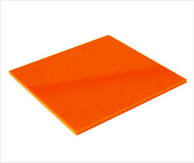 Acrylic Sheet Orange Gloss 3mm thickness Perspex CAST UV Rated FREE POST