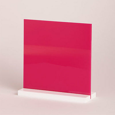 Acrylic Sheet Gloss Hot Pink 3mm thickness Perspex CAST UV Rated FREE POST