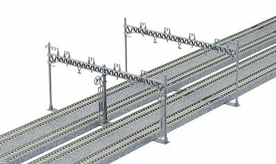 New N Gauge 23-064 4-Wire Wide Overhead Line Pole (10 Pieces)